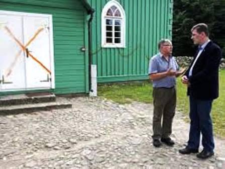 Schmierereien an der Moschee von Kruszyniany