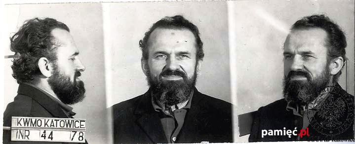 Kazimierz Świtoń  als Antikommunist und Staatsfeind erkennungsdienstlich erfasst.