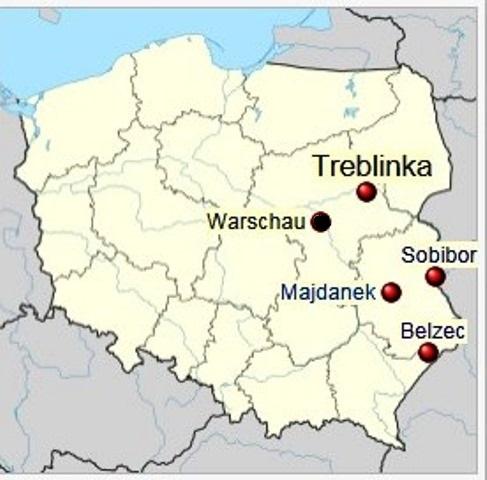 Das Vernichtungslager Sobibor entstand 1942 im Rahmen der sog. Aktion Reinhardt im heutigen Länderdreieck Polen-Weiβrussland-Ukraine. Es war der Tarnname für die systematische Ermordung, zwischen Mai 1942 und Oktober 1943, aller Juden und Roma im Generalgouvernement (deutsch besetztes Polen) und in der Ukraine. Ermordet wurden über zwei Millionen Juden sowie rund 50.000 Roma. Zu diesem Zweck entstanden die Vernichtungslager Bełżec, Sobibór und Treblinka. An abgelegenen Orten, inmitten von Wäldern gelegen, mit einer eigens gebauten Gleisabzweigung versehen, dienten sie ausschlieβlich dem Morden. Die Menschen wurden direkt von der Rampe in die Gaskammern getrieben oder gelockt.