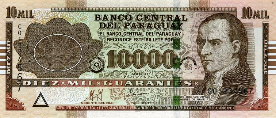 10.000 Guarani aus Polen.
