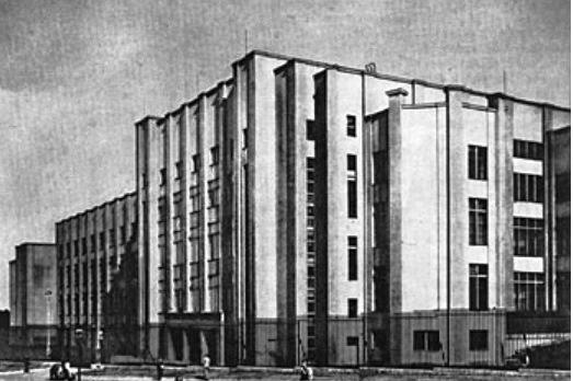 Das PWPW-Gebäude vor dem Krieg.