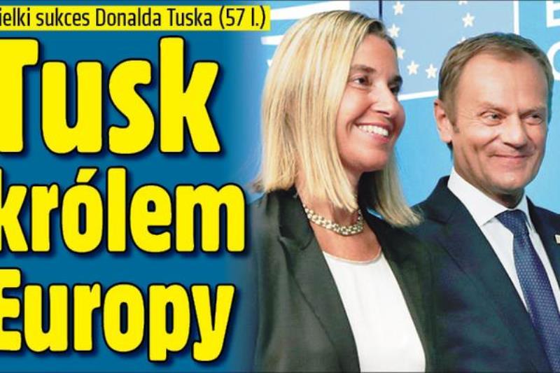 Polnischer Jubel 1: Tusk, der neue König Europas.