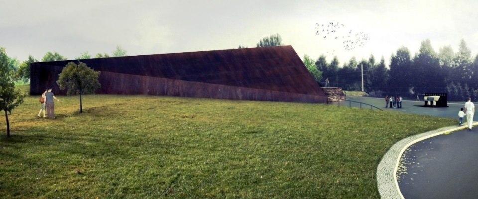 Das Museum der polen die Juden gerettet haben in Markowa. Entwurf.