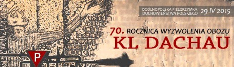 Einladung der Polnischen Bischofskonferenz zur Teilnahme an der Wallfahrt nach Dachau am 29. April 2015.
