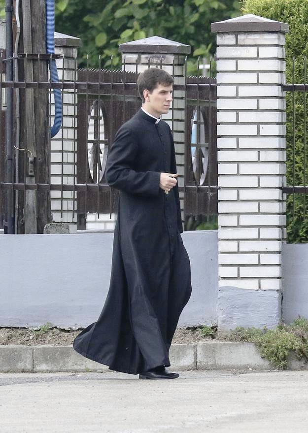 """Priesteranwärter Tymoteusz Szdło. """"Er hat sich einen nicht leichten, aber schönen Lebensweg ausgesucht. Darauf bin ich stolz."""""""
