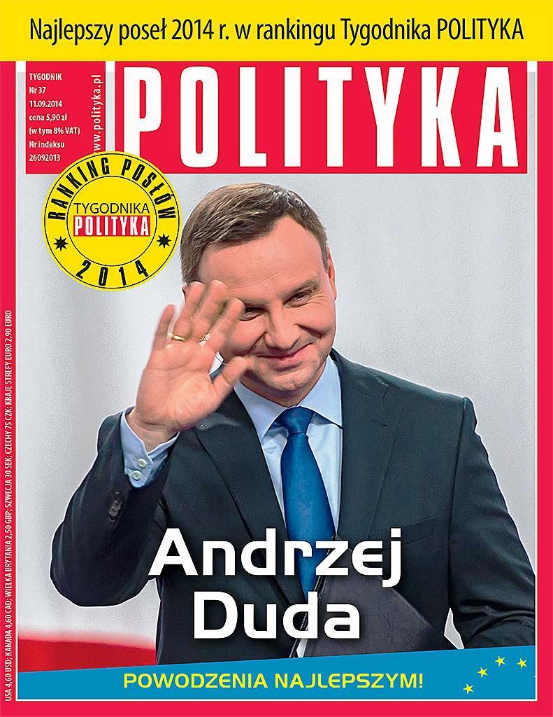 """Der beste polnische Europaabgeordnete. """"Polityka"""" im September 2014."""