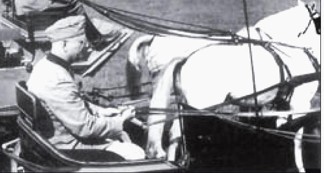 Polen anständig behandelt. Der deutsche Kriegskommendant des Gestütes Janów Podlaski, Oberrst Hans Fellgiebel.