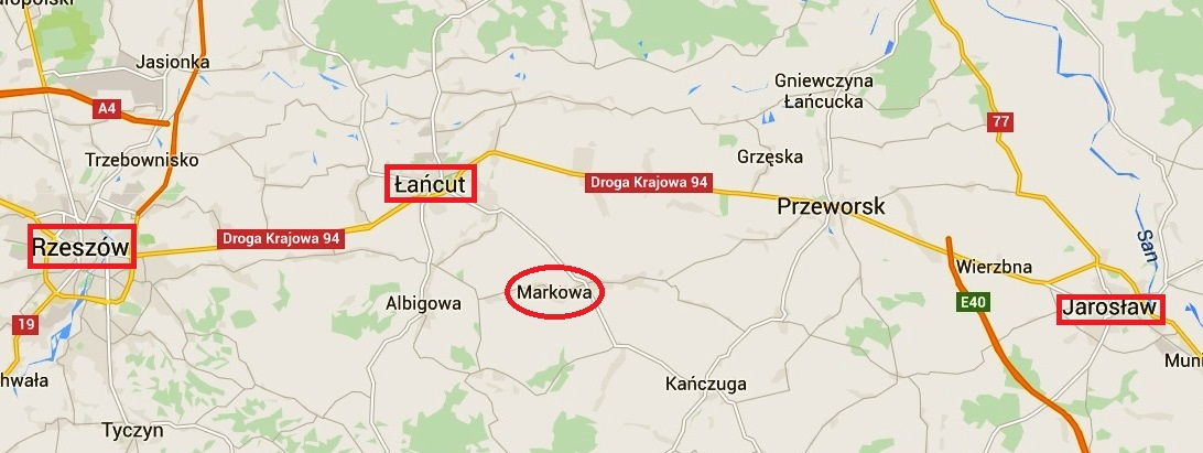 Ulmowie 2 Markowa mapa