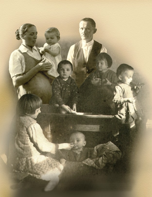 Ulmowie 2 cała rodzina fot.