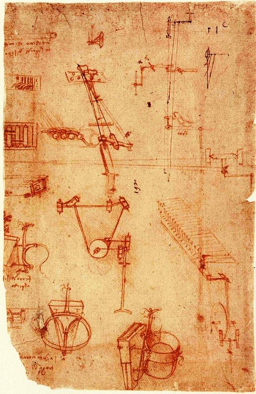 Viola Organista Codex Atlanticus (page 93) fot