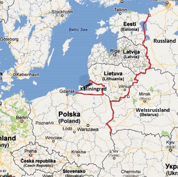 Wschodnia flanka Nato mapa