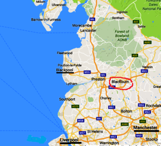 anglia-blackburn-mapa