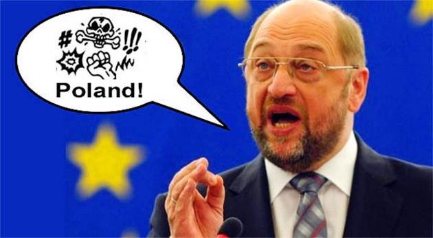 Schulz Polska karykatura fot.