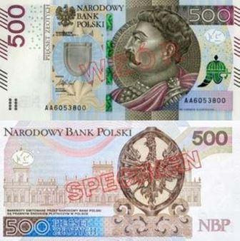 Złotówka 500 złotych fot.