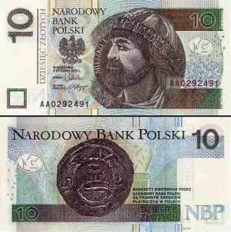 Złoty banknot 10 zł fot.