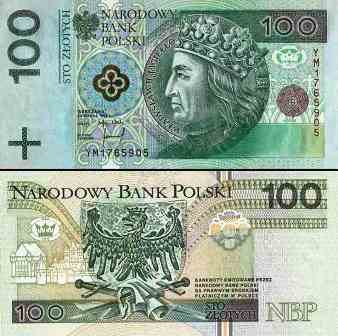 Złoty banknot 100 zł fot.