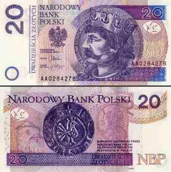 Złoty banknot 20 zł fot.