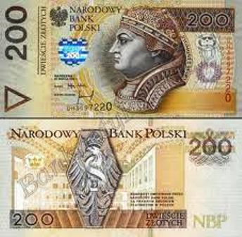 Złoty banknot 200 zł fot.
