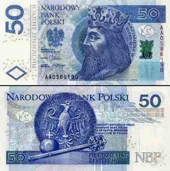 Złoty banknot 50 zł fot.