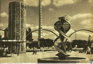 """Avantgardistischen Installationen auf der """"Ausstellung der Wiedergewonennen Gebiete"""", Wrocław/Breslau 1948."""