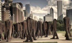 Abakanowicz k. Grant Parku Chicago 106 postaci bez gø. i rák 2007