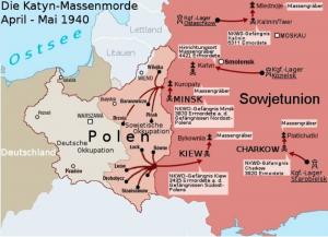 Katyń mapa