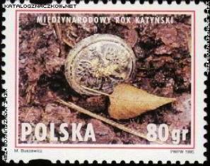 Zakirow znaczek Katyń 1995