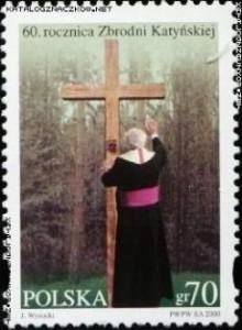 Zakirow znaczek Katyń 2000