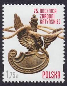 Zakirow znaczek Katyń 2015